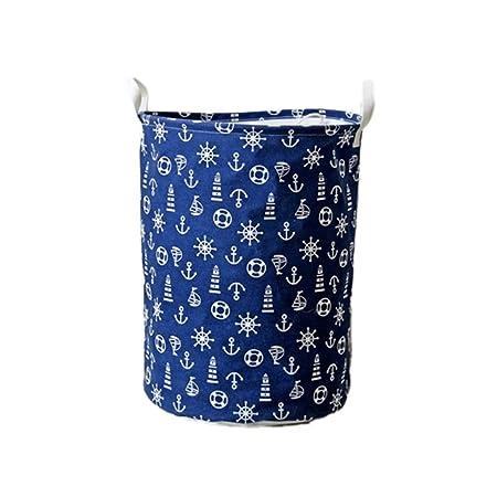 Aulley lavadero barril plegable juguete ropa cesta sujetador ...