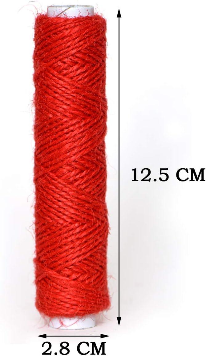 535 Yards Jute Twine- Thick Jute String Rope-Natural Garden Twine-2mm Jute Twine String Hemp Rolls 18 Colors,1605 Feet Gifts DIY Crafts Each for Gardening Decoration Bundling