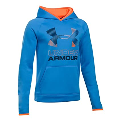 170c68c901b6 Amazon.com  Under Armour Boys  Armour Fleece Solid Big Logo Hoodie ...