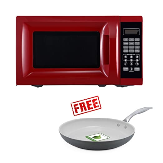 Mainstays 700W Output Microwave Oven, (Red)
