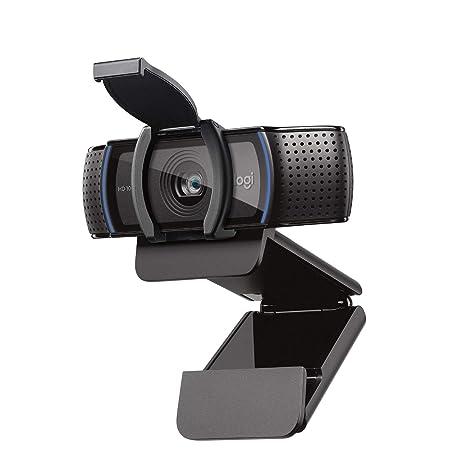 Logitech C920s HD Pro Webcam (Videogespräche und Videoaufnahmen in Full HD mit 1080p mit zwei Stereo-Mikrofonen, Abdeckblende