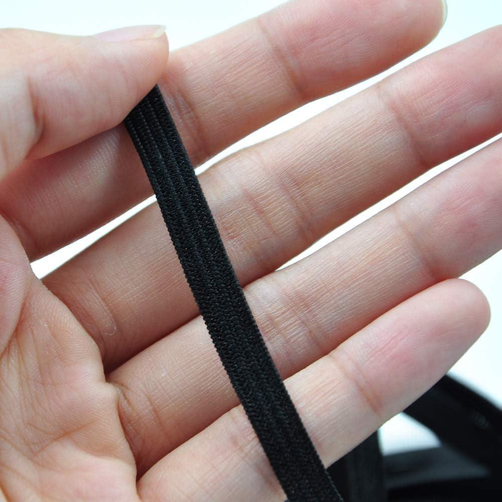 Nastro Elastico Merceria Filo Elastico per Cucire Sartoria,3mm,Bianco ZFSOCK Elastico per Cucito Cordoncino Elastico Piatto