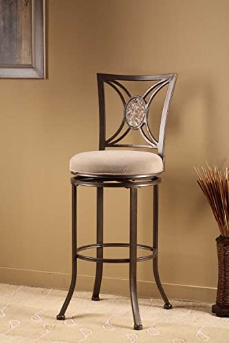 Hillsdale Furniture Swivel Stool in Muted Neutral Finish 30 in. Bar Height