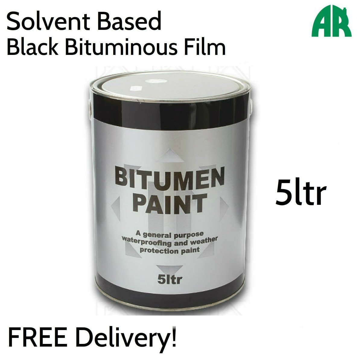 Black Bitumen Paint | Waterproof | Weatherproof | Protective Coating | 5ltr Ashbrook Roofing