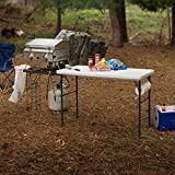 Lifetime Folding Tailgate Camp Table with Grill