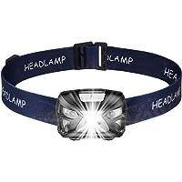 GLOGLOW Antorcha de Cabeza LED, Faro LED Impermeable Recargable Faro de Faro LED Cómodo Mejor Equipo Bulbo de lámpara IR Sensor de Movimiento, 300 Lume