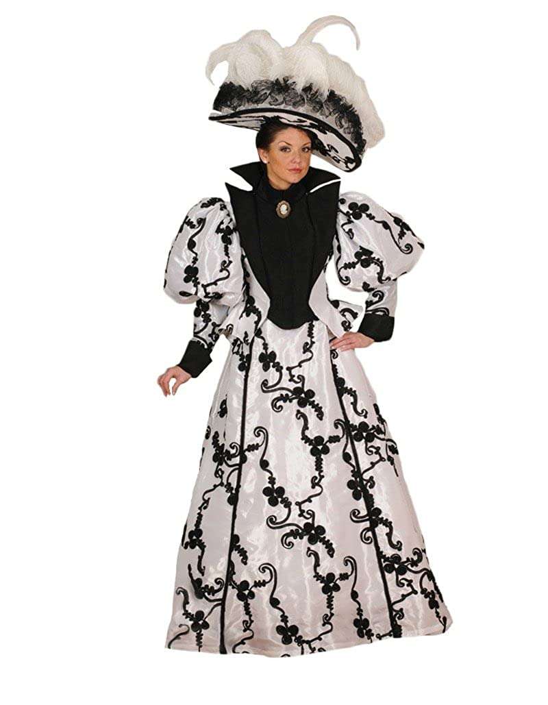 1890s-1900s Fashion, Clothing, Costumes Womens Lacey Victorian Theater Costume Dress $389.99 AT vintagedancer.com