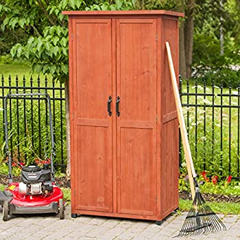 Amazon.com : Leisure Season VSS3005 Vertical Storage Shed ...
