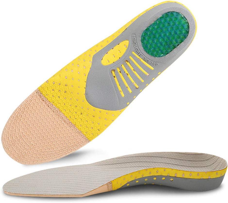 Rosepoem Plantilla Deportiva Fascitis Plantar Inserciones de Zapato de Soporte de Arco Plantillas ortopédicas Plantillas Planas para Hombres y Mujeres