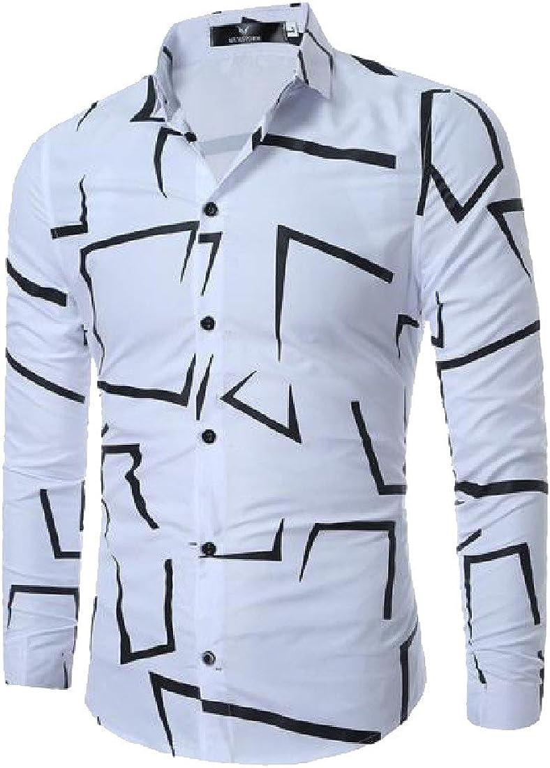 DressUMen La impresión más el tamaño amigo Manga larga camisa ...
