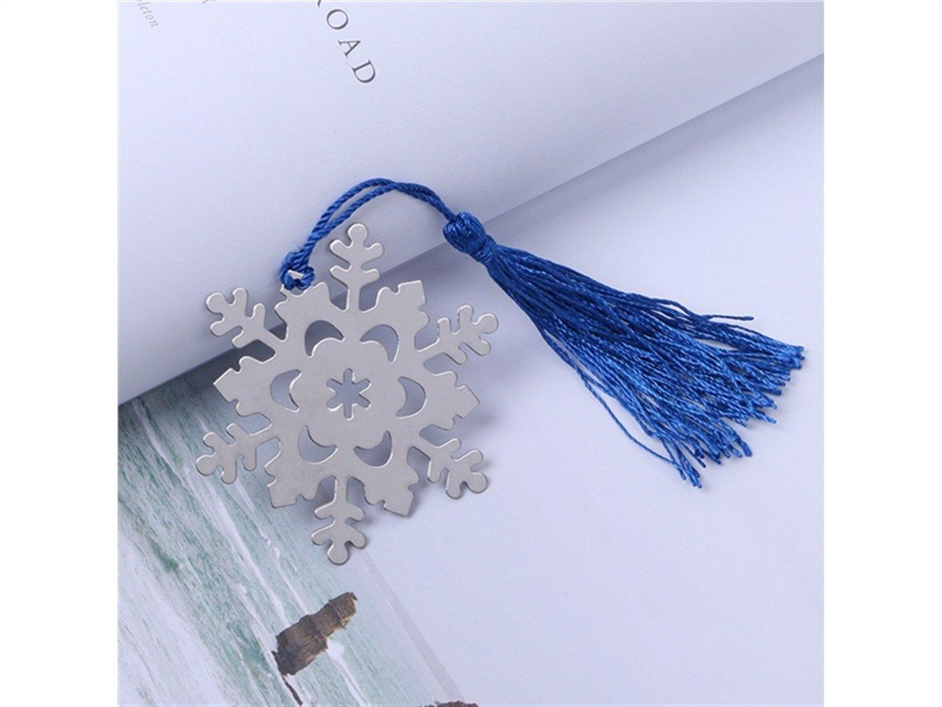 Yter Forniture per ufficio Segnalibro Fiocco di neve Libro Fans Collection Piccolo regalo