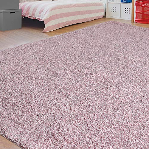 Dazzle Blush Pink Rug: Amazon.com: ICustomRug Just For Kids Shag Area Rug 5'0In X