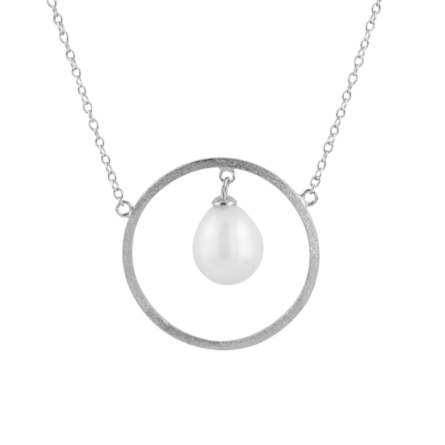 Handpicked AA Sterling Silver Rhodium-Plated Necklace Freshwater Cultured Pearls