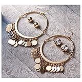 3 Pair Gypsy Ethnic Earrings Stud Hook Tassel Dangle Earring Set for Women Girls (3 Pair Earrings)
