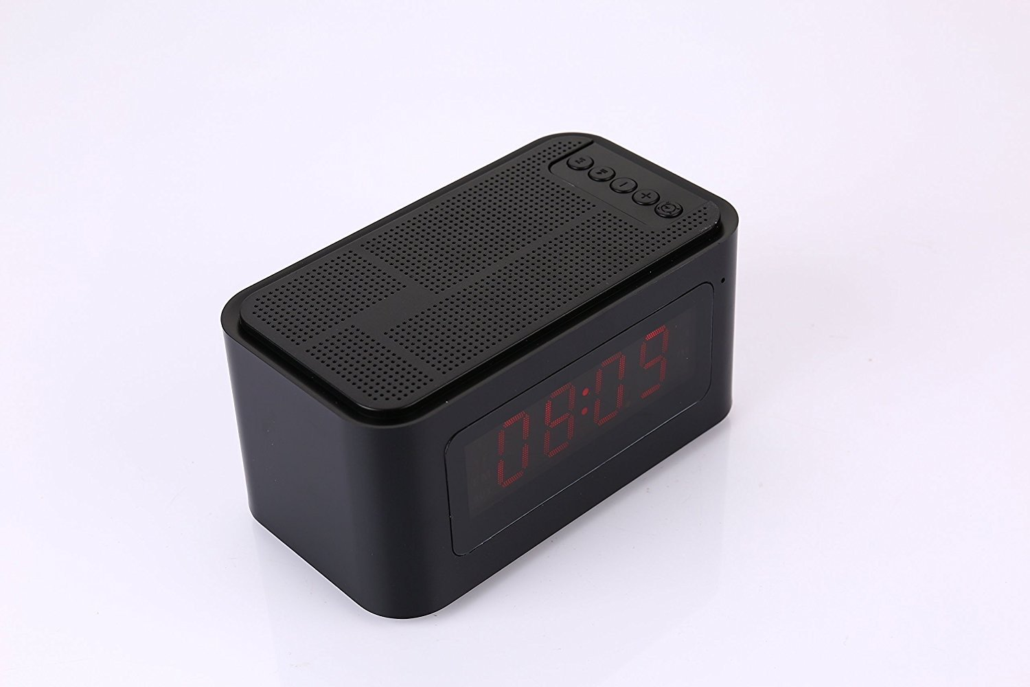 ShopSmartLife Portable S61 Wireless Bluetooth 4.0 Speaker with Time Display Alarm Clock Handsfree Call Support TF Card IPX5 Waterproof (BLACK)