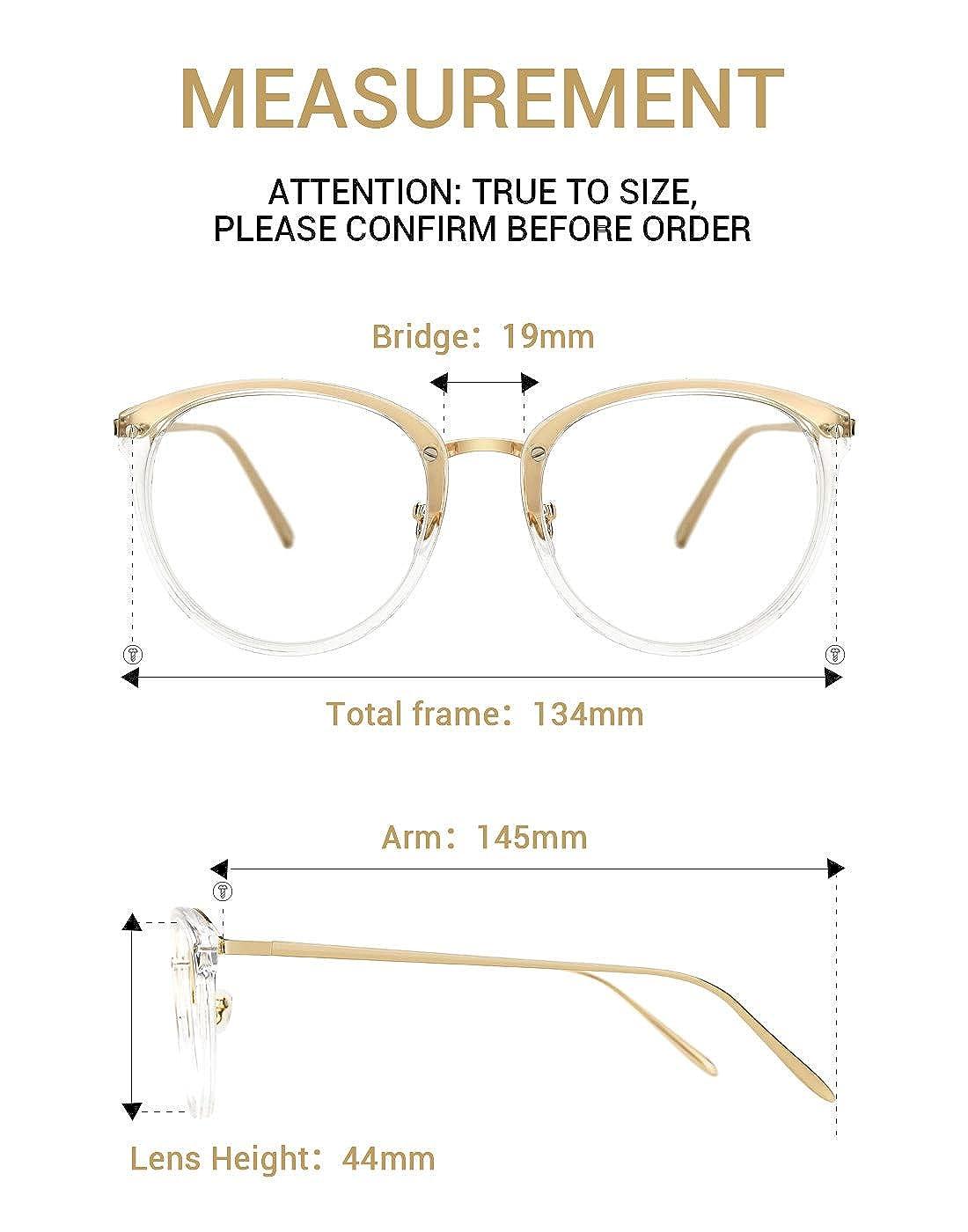 392da32582 Amazon.com  TIJN Vintage Round Metal Optical Eyewear Non-prescription Eyeglasses  Frame for Women  Shoes