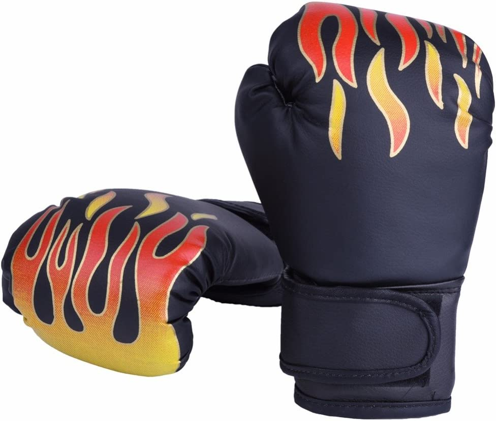 anusa Kickboxingトレーニング手袋子Boxing FightingグローブKids Professionalトレーニングタイ式Sparring Punching Kickboxing通気性PU Flame手袋