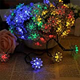 #8: Solar String Lights Outdoor Christmas Decoration Light Waterproof Solar Patio Lights Decorative for Xmas Tree Garden Home Lawn Wedding Party Holiday