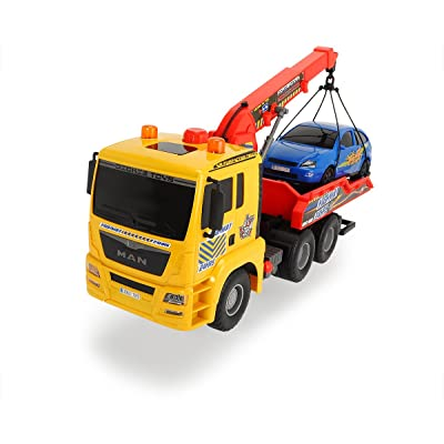 """Dickie Toys 21"""" Air Pump Action Tow Truck Vehicle: Toys & Games"""