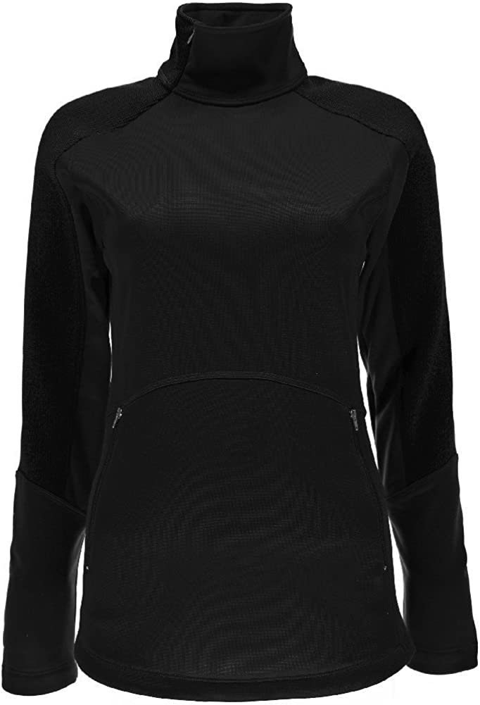 Spyder Womens Bandita Half Zip Light Weight Stryke Jacket Black//Black Small
