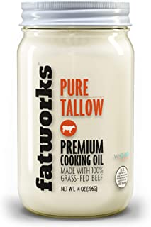 product image for Fatworks Premium 100% Grass Fed, Pasture Raised Beef Tallow, Artisanally Rendered, WHOLE30 Approved, KETO, PALEO, 14 oz.