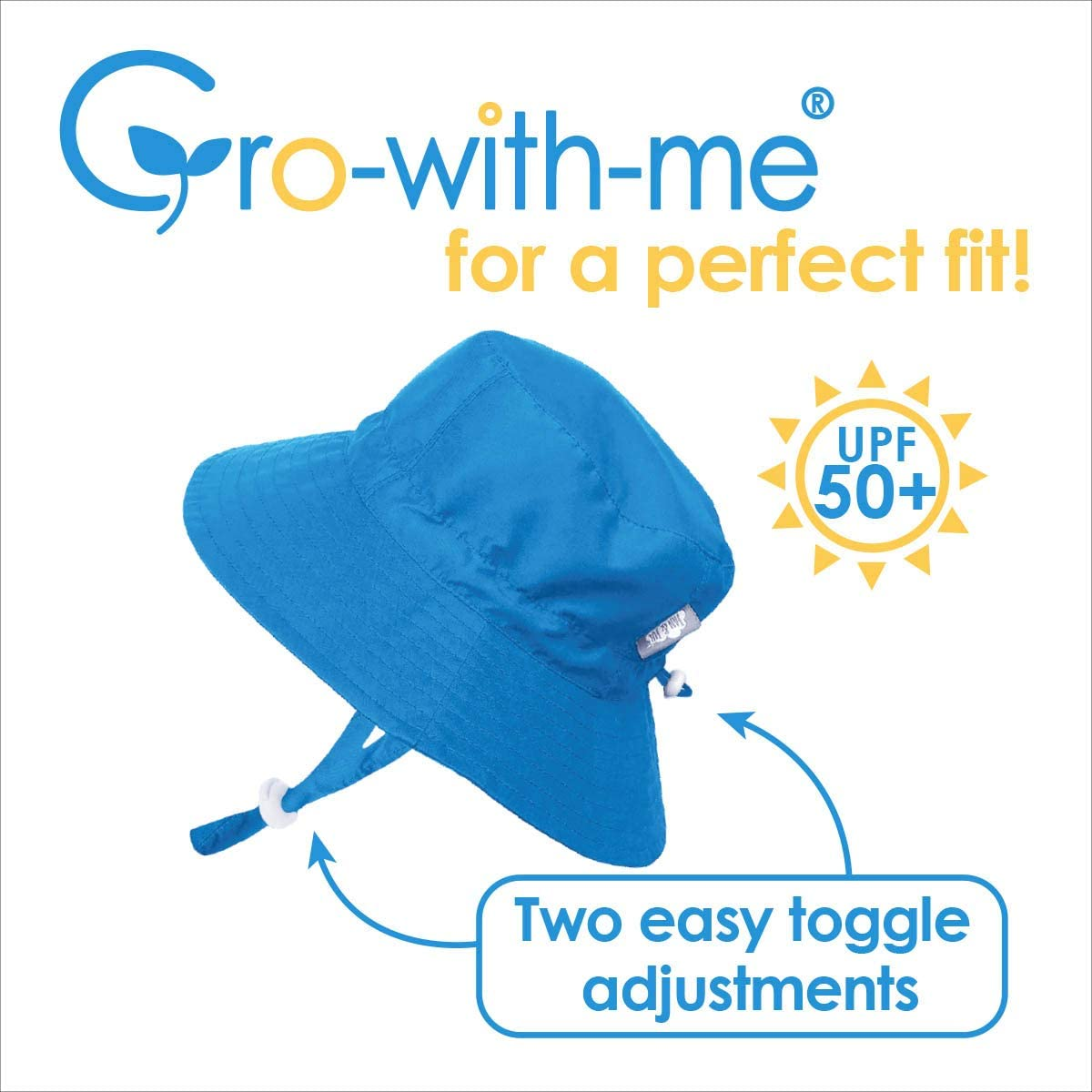 JAN /& JUL Toddler Boys Aqua-Dry Sun Protection Hat 50 UPF Stay-on Drawstring Adjustable M: 6-24m, Dinosaur