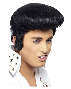 Horror-Shop Peluca de Elvis con patillas original