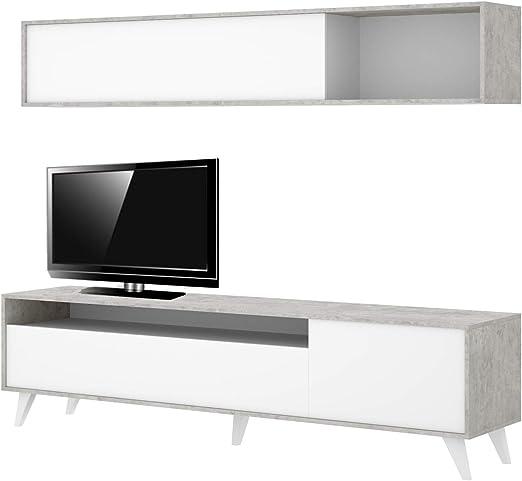 HABITMOBEL Mueble de salón Moderno, modulos Comedor, Medidas: 180 ...