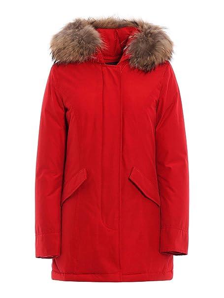 Woolrich Mujer Wwcps1447cn02rfk Rojo Algodon Cazadora ...