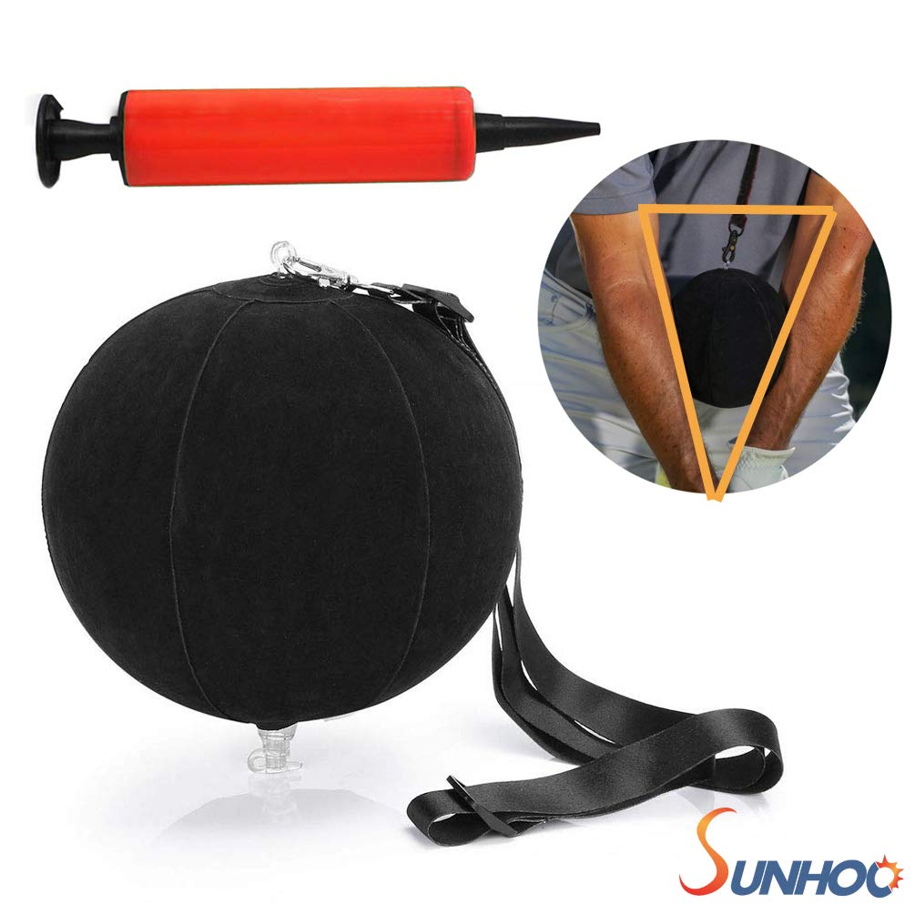 SUNHOO Golf Smart Ball, Swing Training Aids, Portable Intelligent Impact Ball, Inflatable Posture Correction Tool, Pump Included by SUNHOO