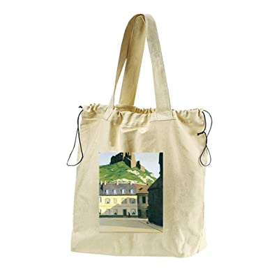 60%OFF Town Square In Andlys (Vallotton) Canvas Drawstring Beach Tote Bag