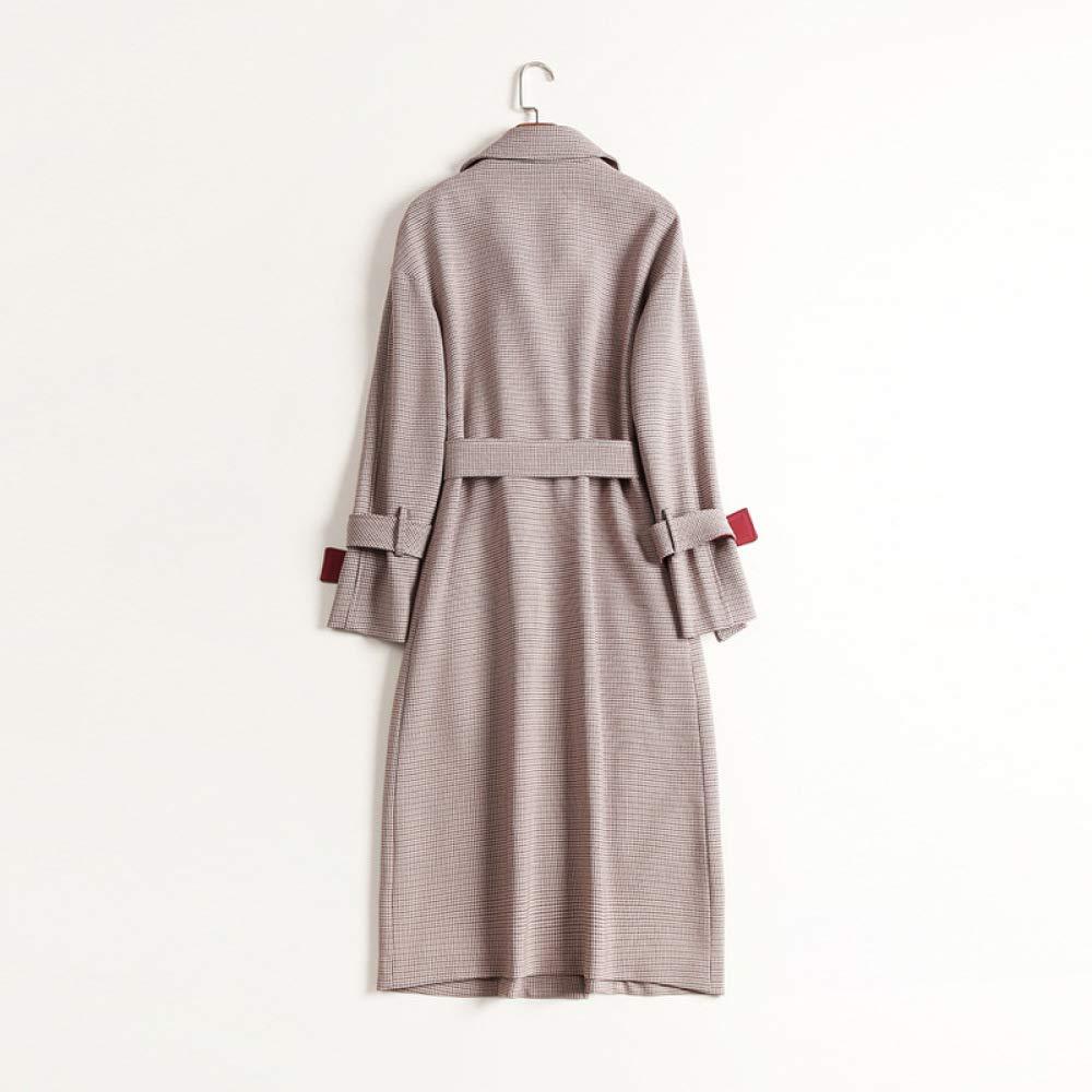 FJTHY Abrigo de Pata para de Gallo de sección Larga para Pata Mujer,Gris,L 1ca618