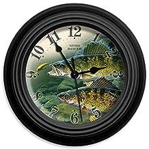 Reflective Art Nitro Dancer Wall Clock, 10-Inch