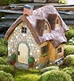 Miniature Fairy Garden Solar Thatched Cottage