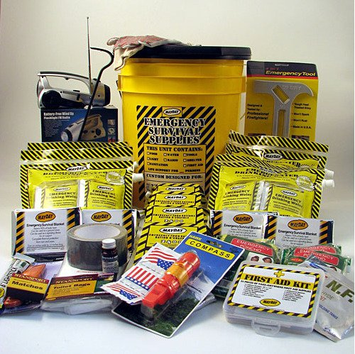 Mayday 13040 Deluxe 4 Person Honey Bucket Emergency Kit by Mayday