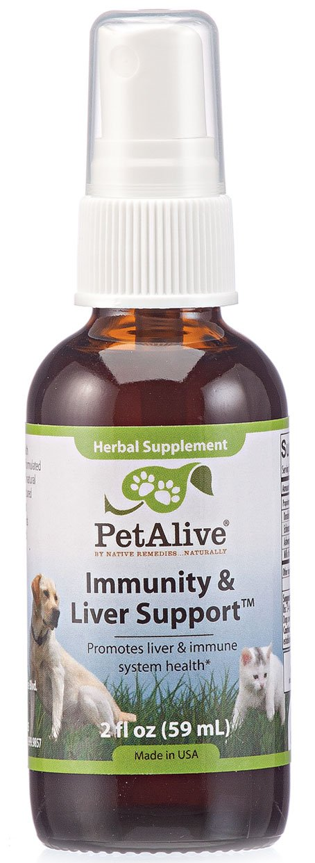 Immunity and Liver Support Oral Spray for Cats & Dogs by PetAlive