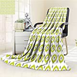 AmaPark Digital Printing Blanket Round Oriental Asian Islamic Home Green White Grey Summer Quilt Comforter