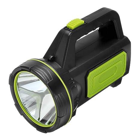 Luz de mano Linterna LED recargable Proyector Linterna Linterna de ...