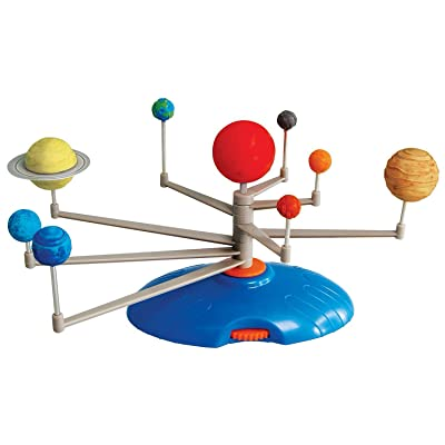 AmScope Kids Solar System Planetarium – Build-It and Paint-It DIY STEM Science Kit with Paint and Brush: Toys & Games