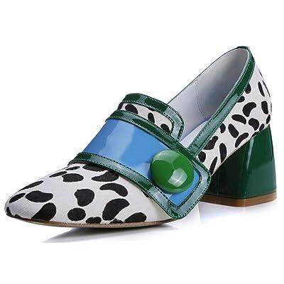 Los altos talones de las mujeres de la manera golpean el lado bajo del color con grueso con un solo talón de los zapatos alto 3-5CM