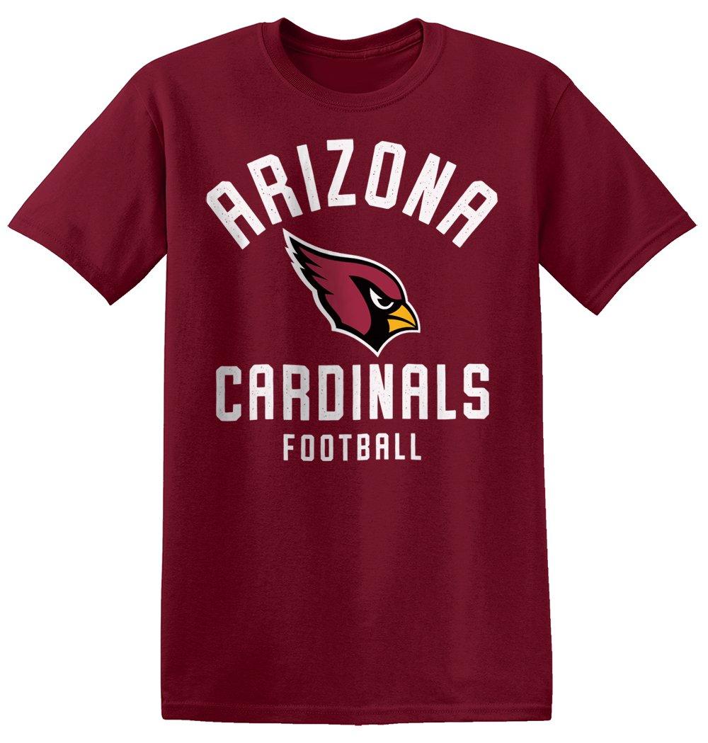 Zubaz NFL Arizona Cardinals Men's Classic Logo Crew Tee, Small, Cardinal