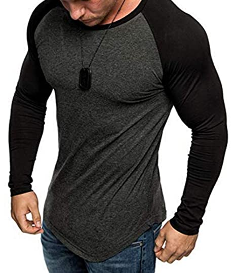 top-rated official exquisite style retail prices XARAZA Men's Slim Fit Muscle Shirt Long Sleeve Crew Neck Pullover T-Shirt