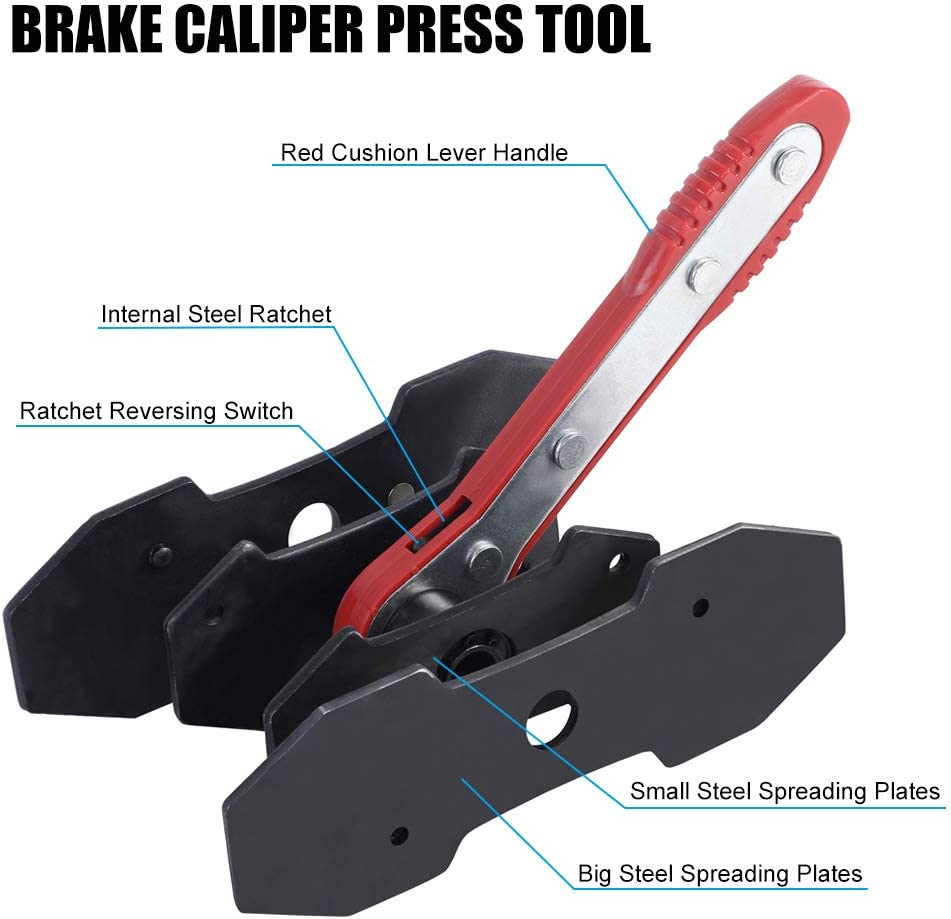 1x Brake Caliper Ratchet  Piston Spreader Press Tool/&Plates