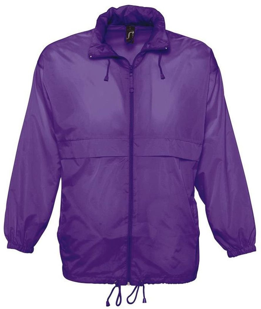 "SOL'S Unisex Surf Windbreaker Lightweight Jacket (L (41-42"" Chest)) (Dark Purple) by SOL'S"
