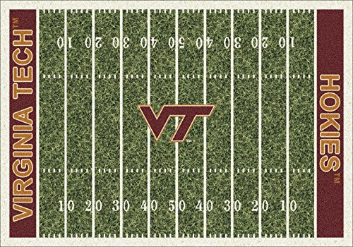 (Virginia Tech College Home Football Field Rug: 78