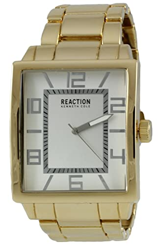 ca3f9a222236 Kenneth Cole Reaction analógico hombres rectangular reloj de pulsera reloj  de pulsera de acero 10031253  Amazon.es  Relojes