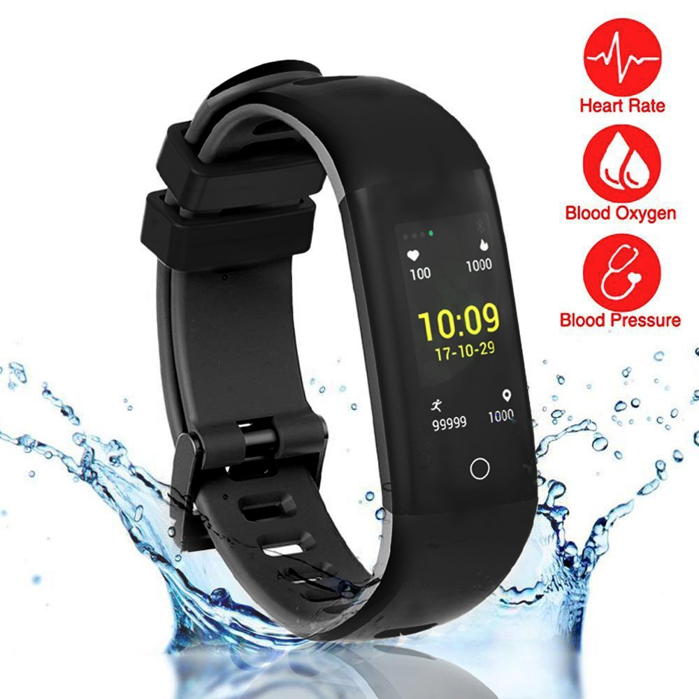 READ New Smart Fitness Tracker, Smart Watch with Blood Pressure Heart Rate Sleep Pedometer Camera Remote Shoot Blood Oxygen Monitor Smart Wristband Bracelet for Bluetooth Andriod and iOS (G16-BLACK)