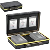 XQD Card Holder & Camera Battery Case for 3 XQD Cards + 2 Camera Batteries ≤59x39x20mm fits Nikon EN-EL15 EN-EL15a EN…