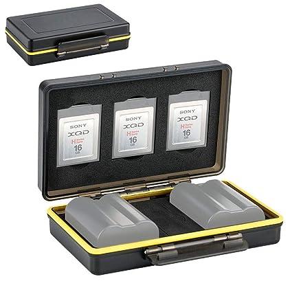 cheaper c581d a9e1c XQD Card Holder & Camera Battery Case for 3 XQD Cards + 2 Camera Batteries  ≤59x39x20mm fits Nikon EN-EL15 EN-EL15a EN-EL15b on Z6 Z7 D850 D7500 ...