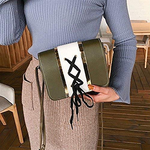 étudiants Sac carré Paquet Un Simple The coloré à Paquet Petit Green Green Moontang bandoulière Paquet féminin Taille Sac Petit Sac Sac The 5ZI6qwpAq